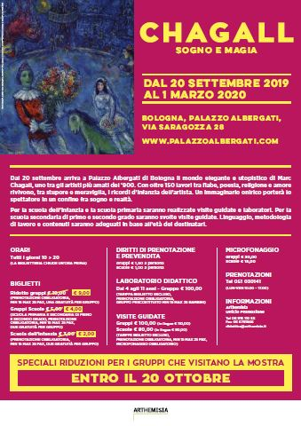 Mostra Chagall – DAL 20 SETTEMBRE 2019 AL 1 MARZO 2020