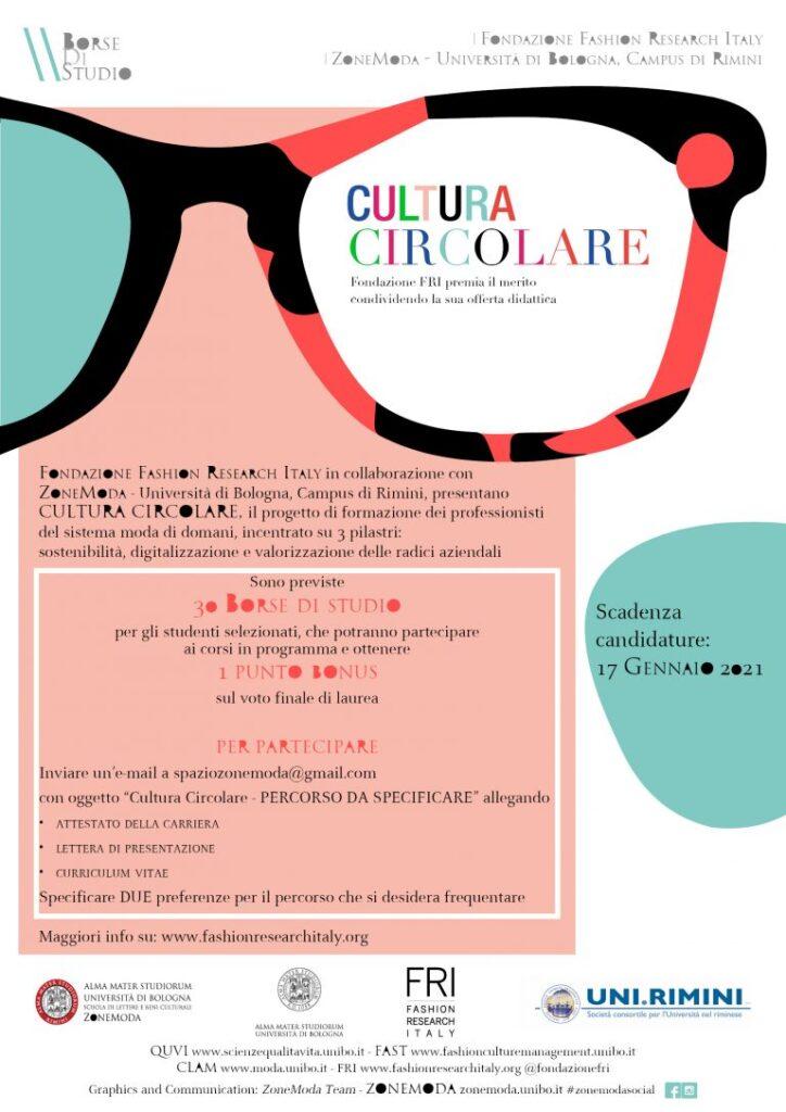 Fashion Research Italy CULTURA CIRCOLARE 30 BORSE DI STUDIO
